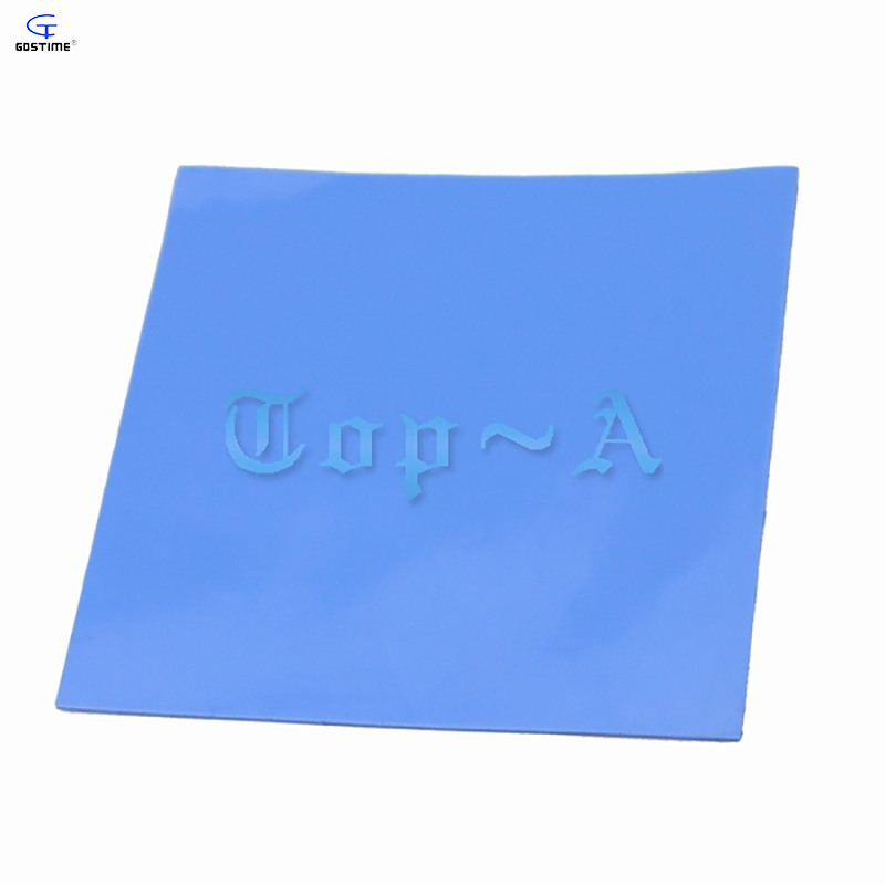 10Pcs/Lot Blue 100 x 100 x 1mm Silicone Thermal Pad For Heatsink Cooling Conductive GPU CPU wholesale wholesale 10 pcs lot 400mmx200mmx1mm gpu cpu heatsink cooling thermal conductive silicone pad thermal conductivity 4w m k