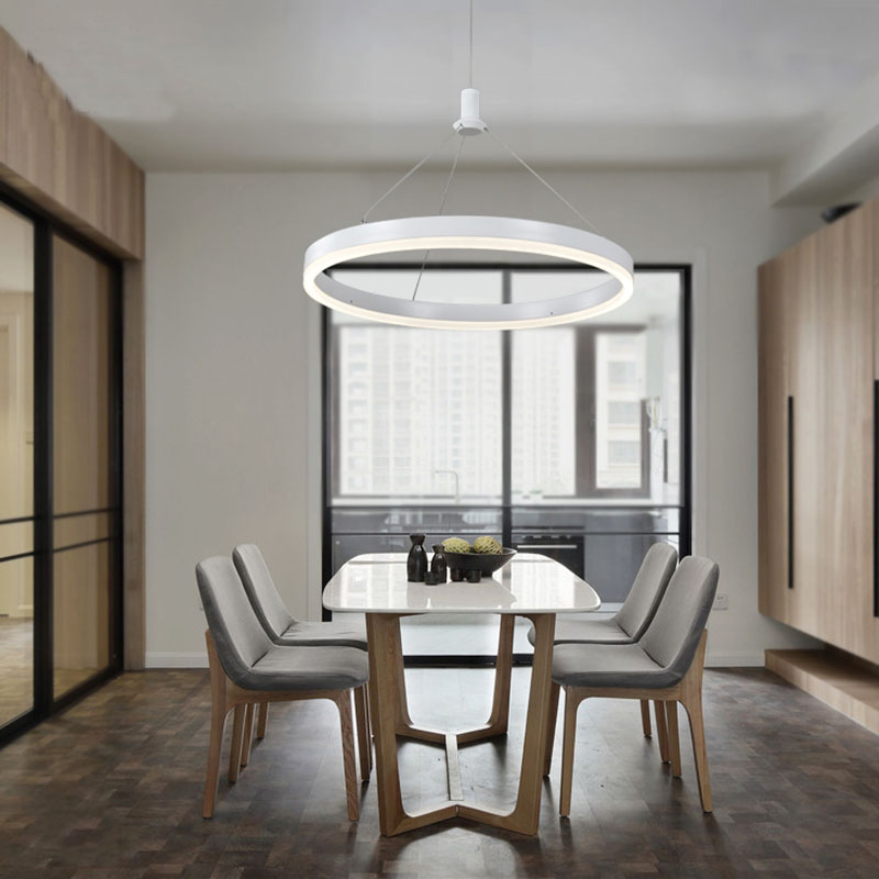 Modern Led Pendant Lamps for dinning Room Acrylic round circle hanging lamp led dining room kitchen pendant light hanging dining room lamp led pendant lights modern kitchen lamps dining table lighting for dinning room home pendant light