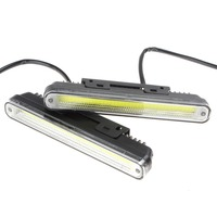 2 X 20cm COB LED Car Vehicles Daytime Running Light With Installation Bracket Super White Light