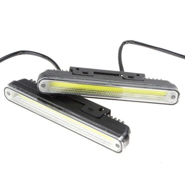 2x20 см COB LED Автомобилей/Автомобилей Дневного Света DRL С Установочным Кронштейном Супер Белый Свет Предупреждение/Безопасности Лампы