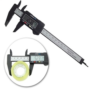 цена на Free shipping Electronic Digital Caliper 1 Pc 6inch Micrometer  LCD Digital Carbon Fiber Vernier Caliper Gauge Micrometer