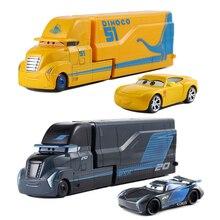 Mobil Disney Pixar Cars2 3 Mainan Lightning McQueen Jackson Badai MACK Paman Truk 1:55 Diecast Model Mobil Mainan Anak Ulang Tahun hadiah