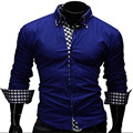 2017 Новый мужской Моды Новые мужские Случайные Классический сплошной цвет Рубашку с Длинными рукавами Продажи Высокое Качество мужские Рубашки