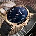 LIGE Mens Relógios Top Marca de Luxo dos homens Simples Moda Casual homem de Relógio de Couro Mecânico Automático relógio À Prova D' Água Relojes