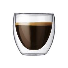 Высокая боросиликатная стеклянная Двухстенная Изолированная кофейная чашка 80 мл для питья молочного чая фруктового сока кофе латте эспрессо