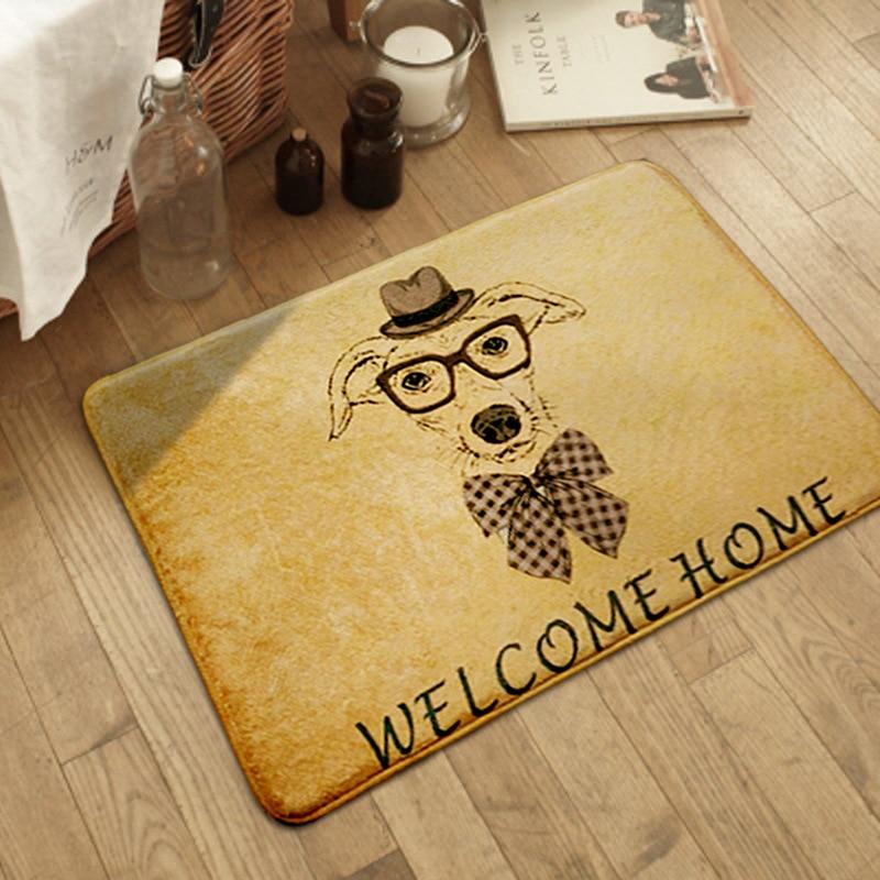 Household Kids Carpet Cartoon animal print Carpet door mat Kids Bathroom Non-slip mat Child Room Entrance Rug baby Game Tapete