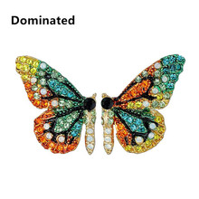 Dominated Women Fashion Color Personality Crystal Butterfly Short Ear Studs
