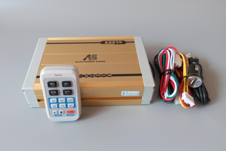 ФОТО AS820 High quality 200W wireless police siren car alarm amplifiers with remote for police,ambulance,fire truck(without speaker)