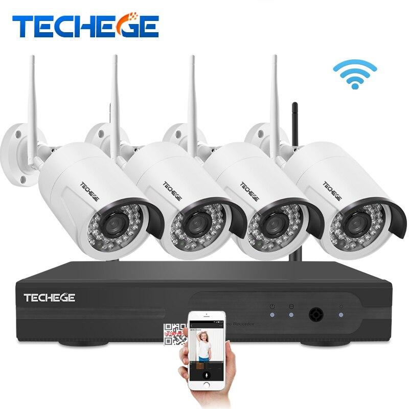 bilder für Techege 4CH Überwachung 1080 P NVR 1080 P WIFI Ip-kamera 2.0MP wireless kit WiFi Kamera CCTV-System P2P onvif cctv-kamera system