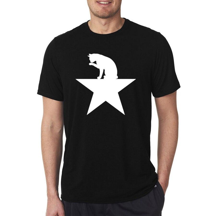 Design your own t-shirt hamilton - New Hamilcat Black Cat Design For Alexander Hamilton Fans Man S T Shirt High Quality Cotton Men S
