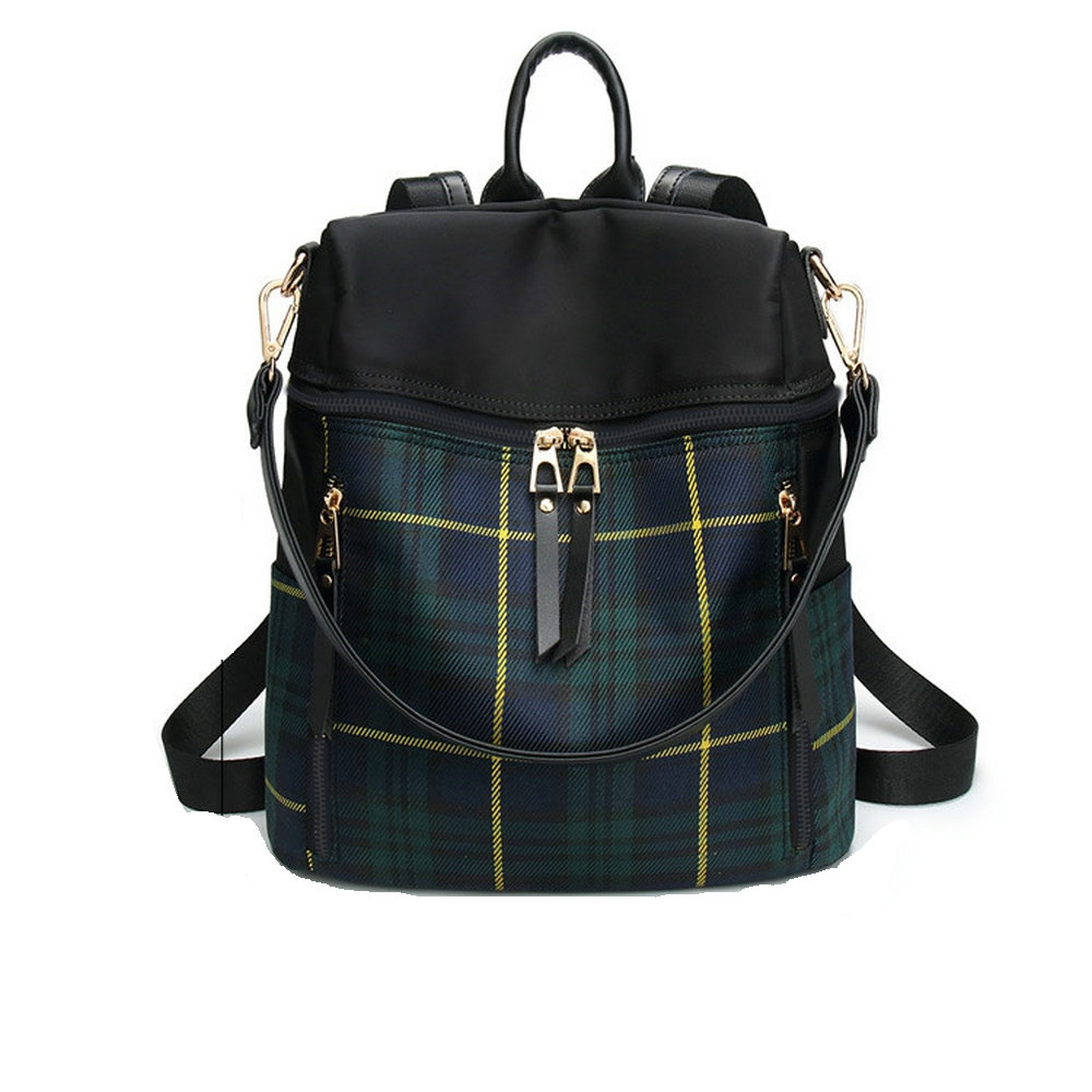 High Quality Plaid Backpack School Bags For Teenagers Girls Bag Women Backpack Top handle Mochila Escolar