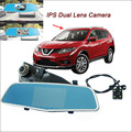 "For nissan x-trail Car DVR Rearview Mirror Video Recorder WDR FHD 1080P Dual Camera Novatek 96655 5"" IPS Screen Car Black Box"