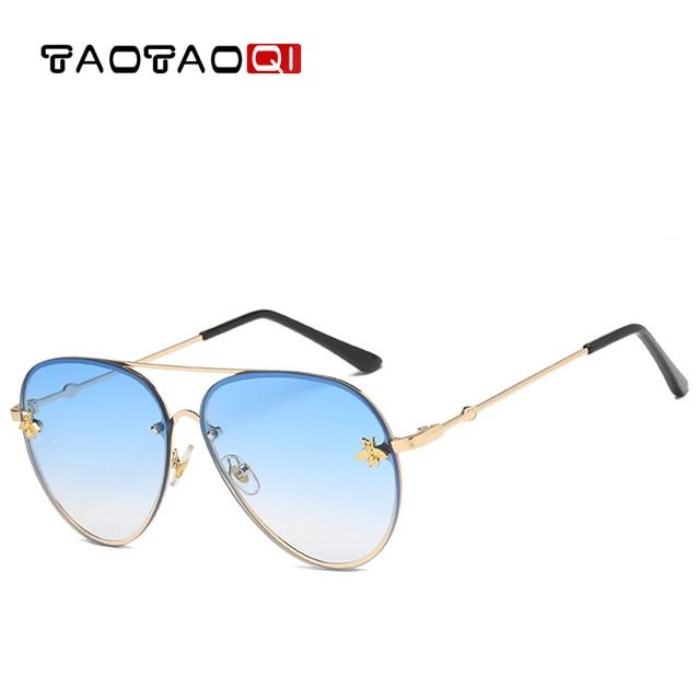 8bb891d2111 TAOTAOQI Luxury Sunglasses Women Vintage Designer Bee Metal Frame Pilot  Sunglasses Men Fashion Brand Female Sun Glasses UV400