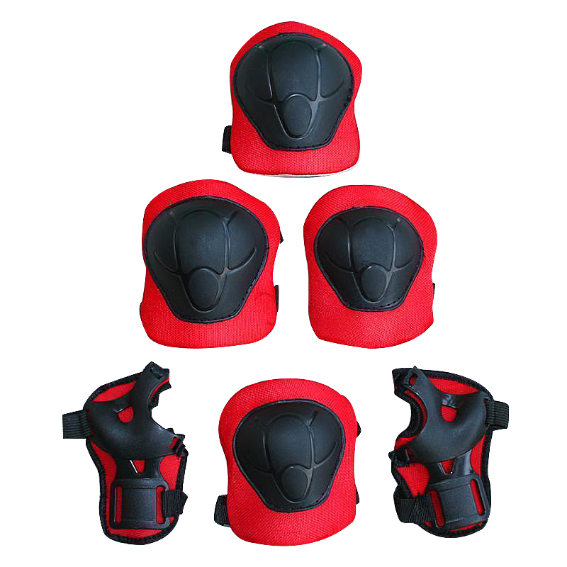 6pc Kids Teens Elbow Knee Wrist Protective Guard Safety Skate Bike Gear Pads For Skateboard Biking Mini Bike Riding Protecter
