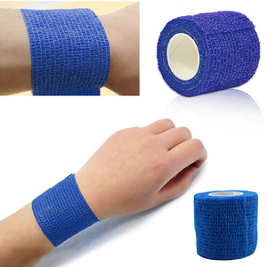 New Self Adhesive Ankle Finger Muscles Care Elastic Medical Bandage Gauze Tape Sports Wrist Support C55K Sale