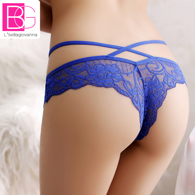 Hot Fashion Women Sexy Lace Transparent Low Waist Hollow Underwear Girl Stringi Lady Figi