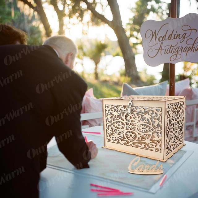 OurWarm DIY Wedding Gift Card Box