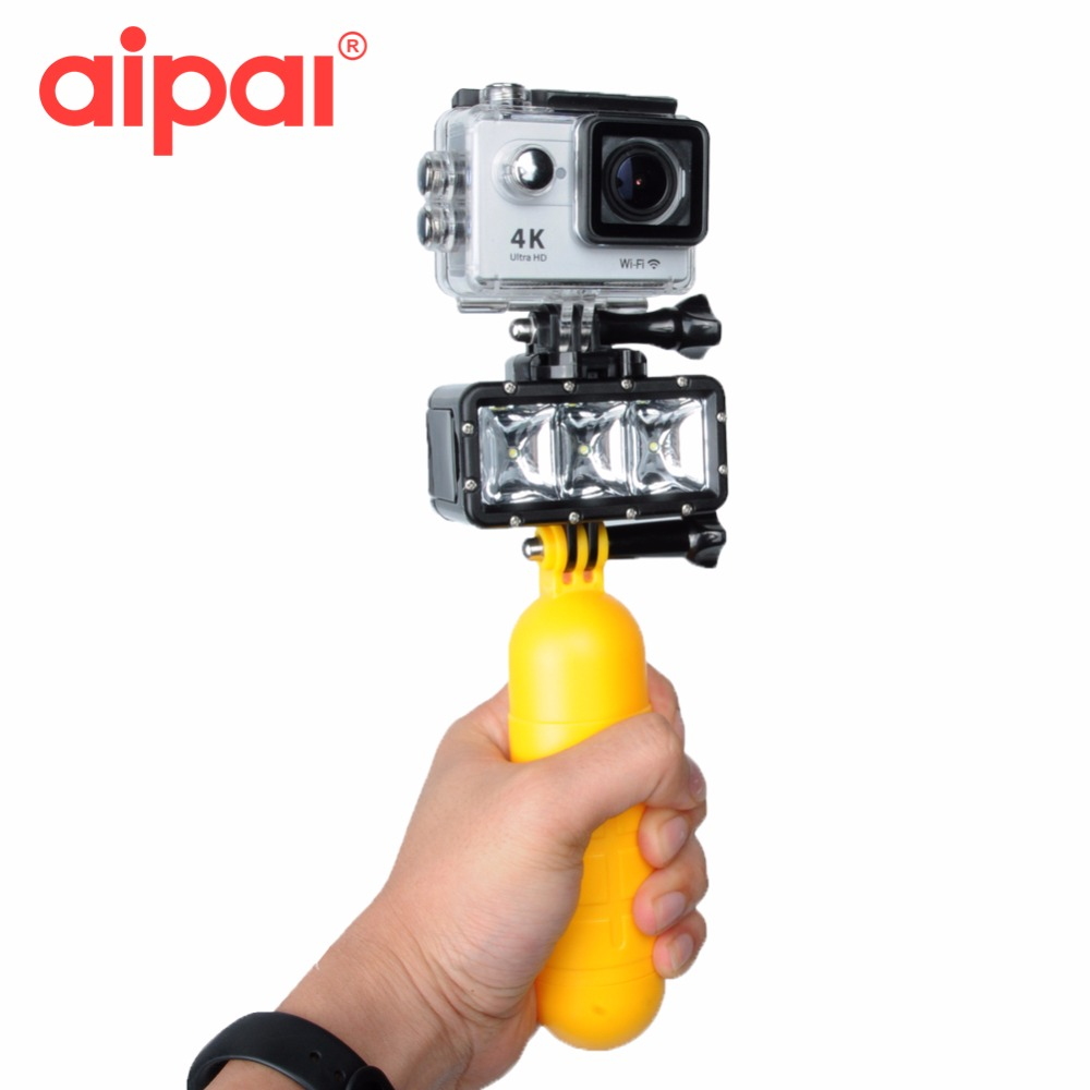 35m Underwater Diving accessories kit Set Waterproof LED Flash Light For Gopro Hero 4 3 3