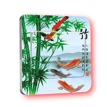 1 PCS China Wind Switch Attached To Classical Bamboo Section Home Decoration Accessories Wall Appliques