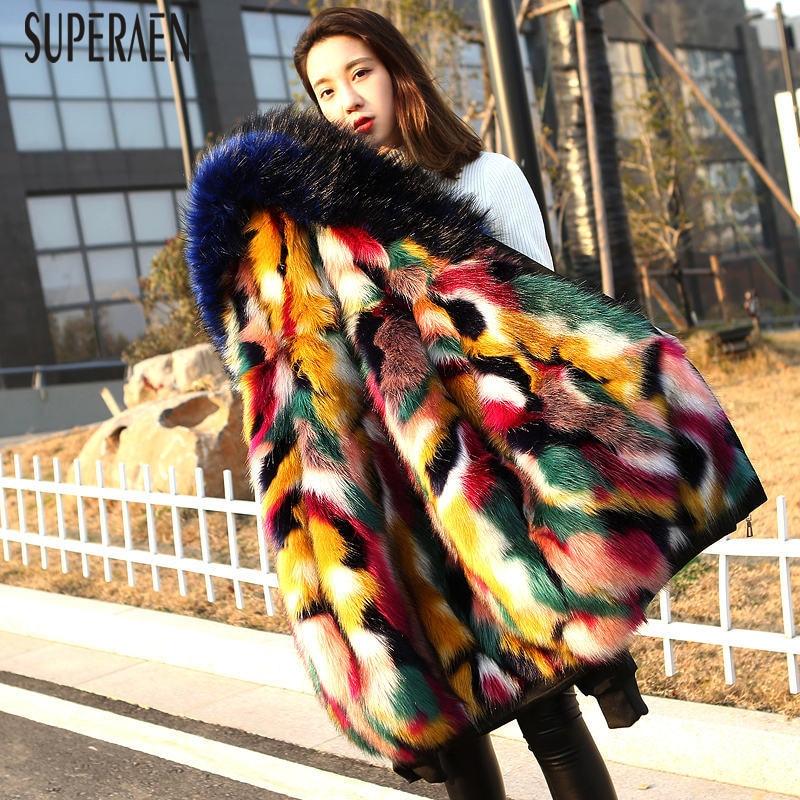 SuperAen 2018 Winter New Warm   Parkas   Coat Women Wild Cotton Casual Fashion   Parkas   Coat Female Thick Europe Hooded Women Clothing