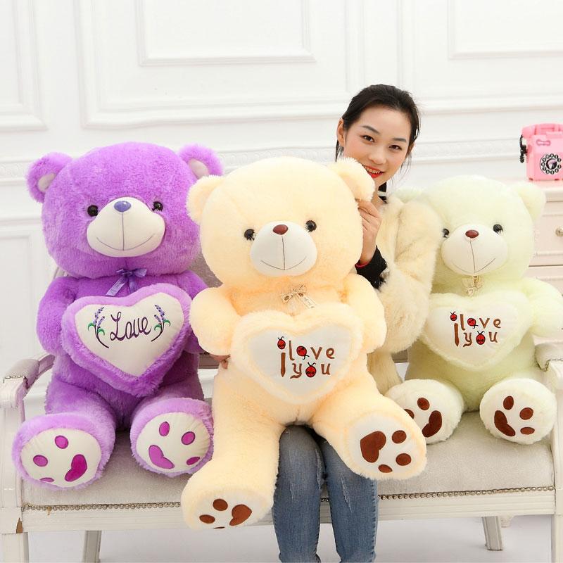 ФОТО 90CM High Quality Ted Bear Plush Dolls Teddy Bear 1m/big Embrace Bear Doll /Lovers/Christmas Girlfriends Hot Sales