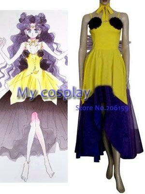 Anime Sailor Moon Luna Human Cosplay Costume Female Halloween Party