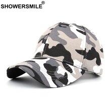 SHOWERSMILE Mens Baseball Cap Camouflage Vintage Snapbacks Army Women Black Summer Streetwear Outdoor Dad Hat Hip Hop Unisex