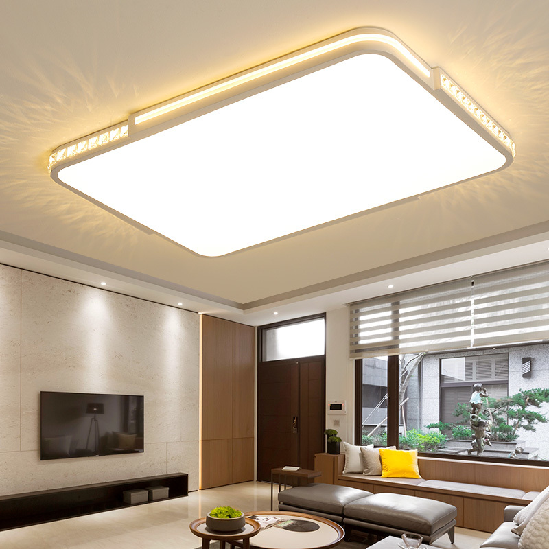 Ultra-thin Modern led Ceiling Lights For living room lights Bed room light lamparas de techo Square Crystal Ceiling Lamp Fixture 2018 new macaron color led ceiling lights round 5cm ultra thin ceiling lamp for bed children s room led lamp lamparas de tech