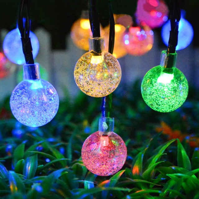 source lawn lamp solar power led string fairy lights garden light outdoor