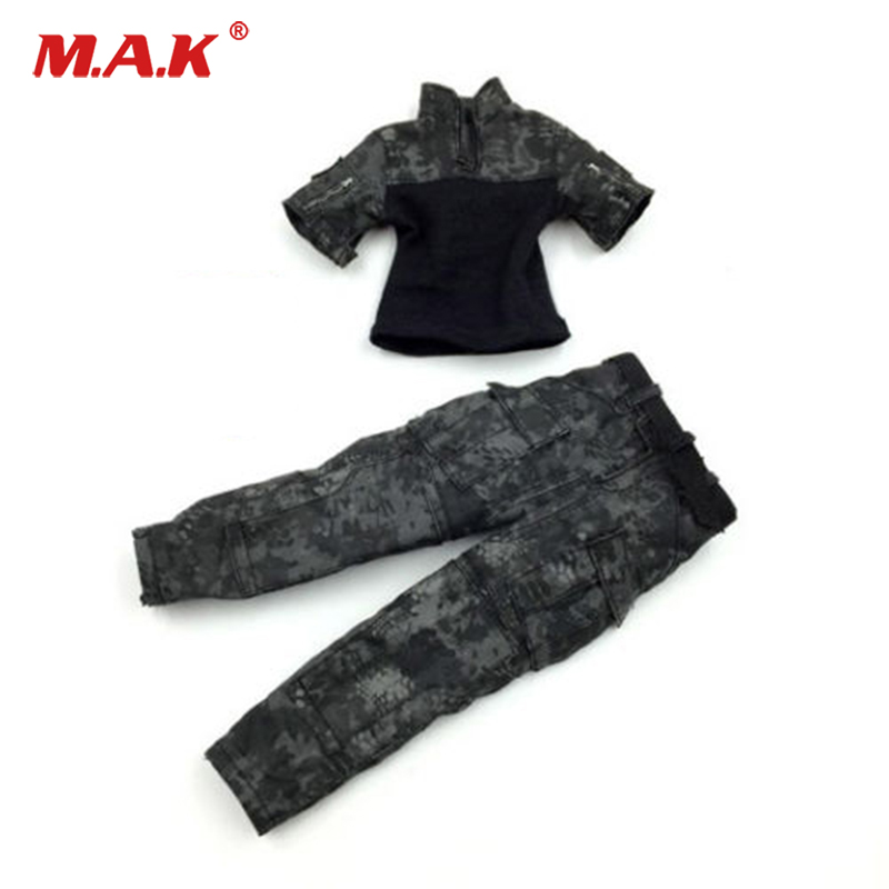1:6 Scale SF002 1/6 Scale Black Combat Clothing Model Fit For 12