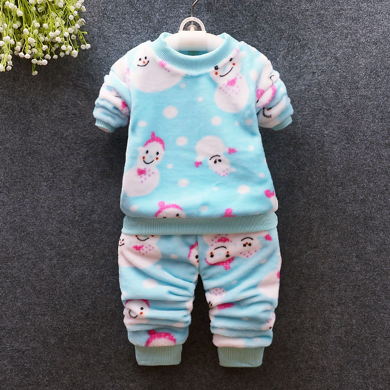 BibiCola cotton children sleeping suits autumn clothing set infant kids boys girls fashion flannel homewear baby pajamas clothes