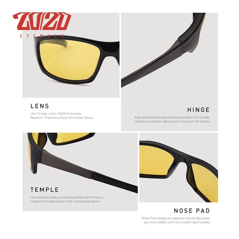 20/20 New Night Vision Solglasögon Män Brand Designer Designer - Kläder tillbehör - Foto 4
