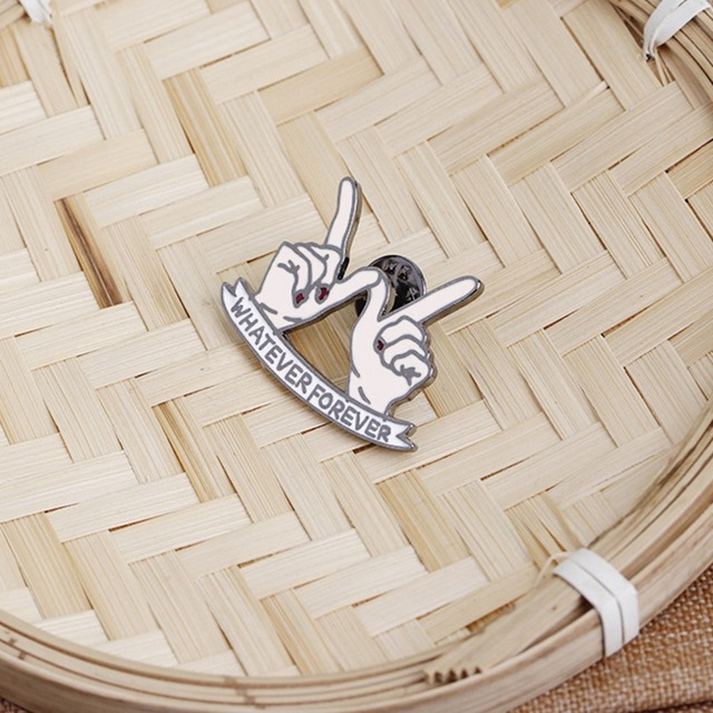 Gesture Hand WHATEVER FOREVER Pin Brooch