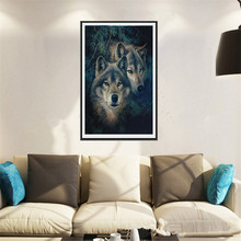 Two wolf Diamond embroidery Diy diamond Painting Ballet Girl dancing Cross Stitch Home Decoration 5D Needlework diamond ZS269
