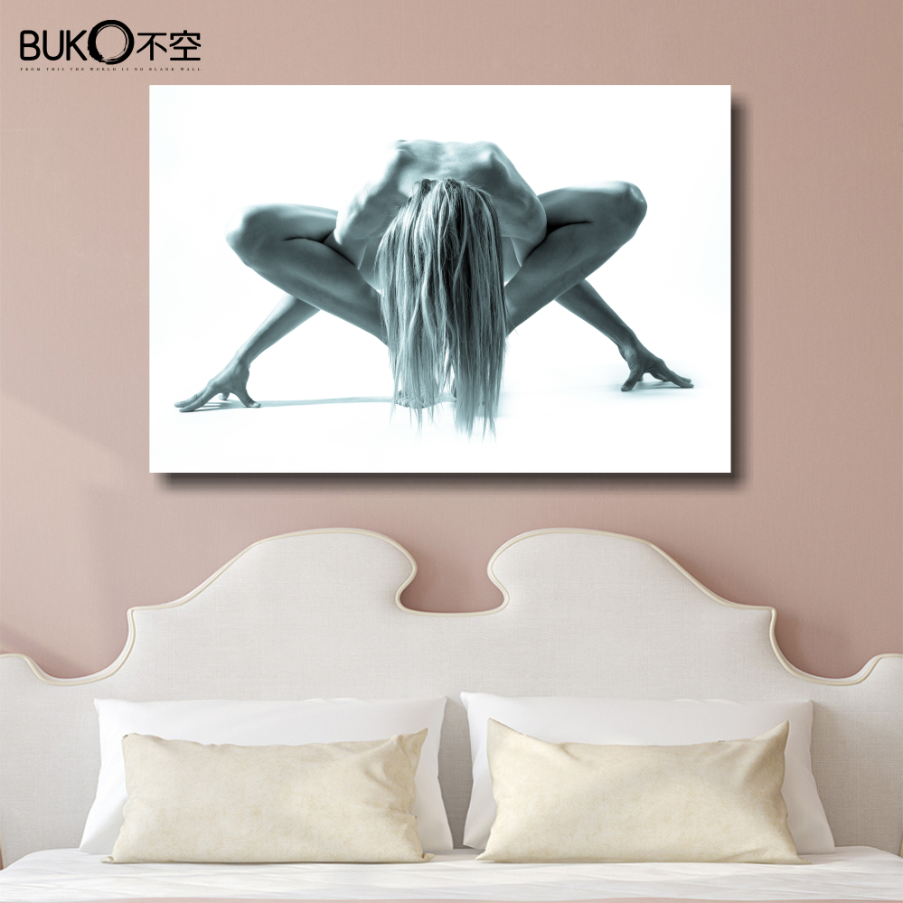 Canvas Painting Setting Spray Benfica Yoga Naked Woman -2827