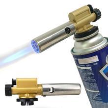 цена на BBQ Accessory Gas Torch Flame Lighter Jet BBQ Camping Welding Auto Butane Burner Ignition Gas Torch Electronic Ignition Camping