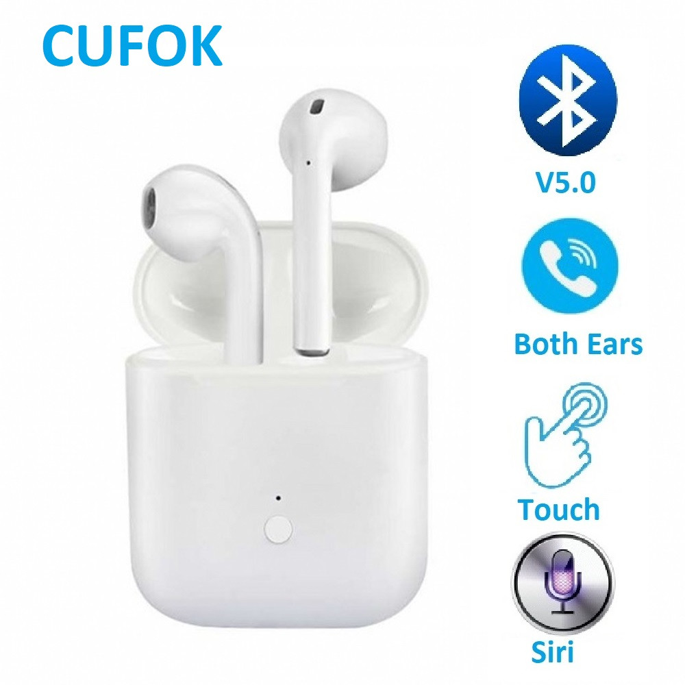 Auriculares Bluetooth Auriculares inal/ámbricos 5.0 Auriculares Bluetooth en Oreja Auricular Est/éreo inal/ámbrico en Oreja Manos Libres para Apple Airpods//Android//iPhone//Samsung