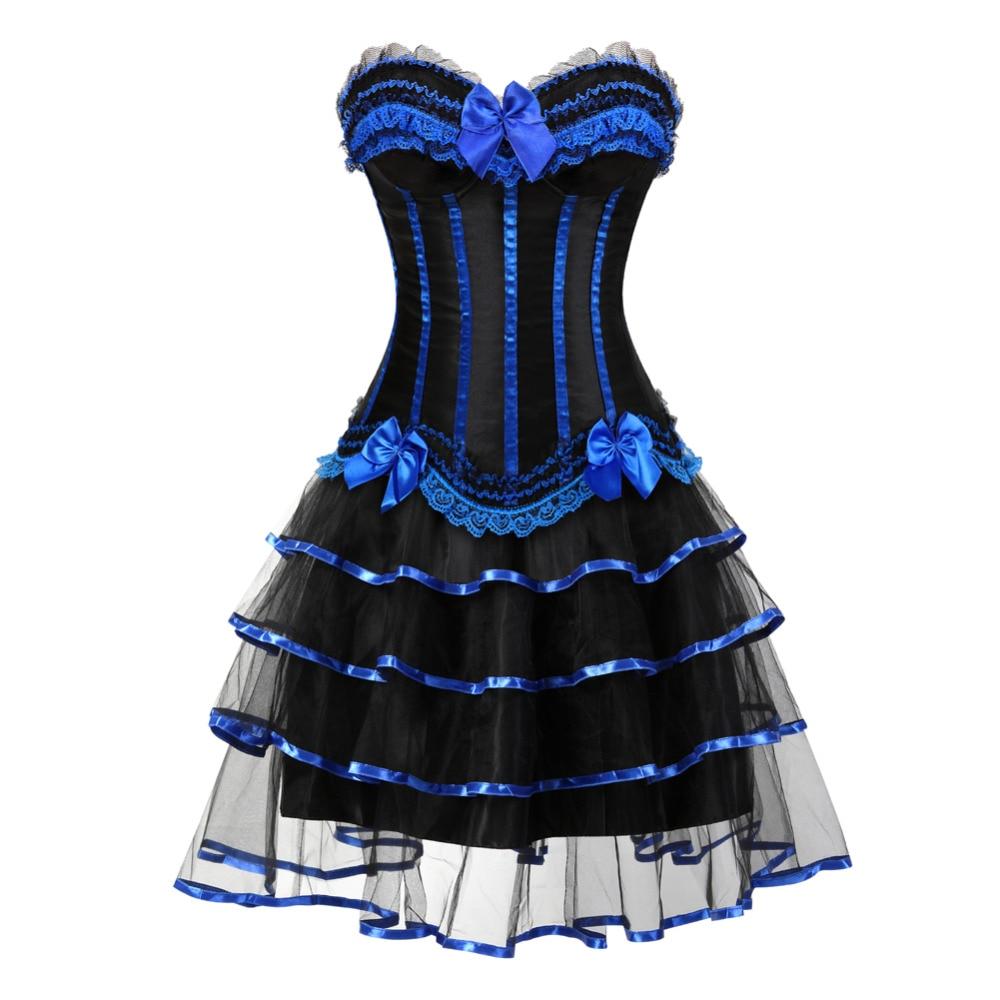 Gastfreundlich 2017 Neue Sexy Frauen Overbust Korsett Halloween Kleid Showgirl Kostüm Mini Tutu Petticoat Karneval Kleid Taille Cincher Attraktive Designs; Home