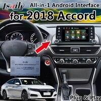 Все в 1 Plug & Play Android gps навигационная коробка для 2018 Honda Accord встроенный видеоинтерфейс, приложения, Mirrorlink, LVDS