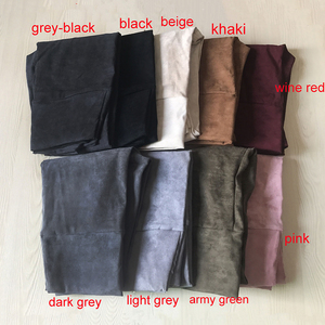 Image 3 - Pantalones de cuero de gamuza para mujer, pantalón ajustado, elástico, de cintura alta, estilo retro, Otoño Invierno, 2019