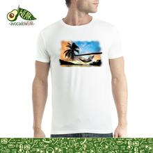 Beach Palm Summer Men T-shirt S-3XL New  T Shirts Tops Tee Unisex Funny High Quality Casual Printing 100% Cotton