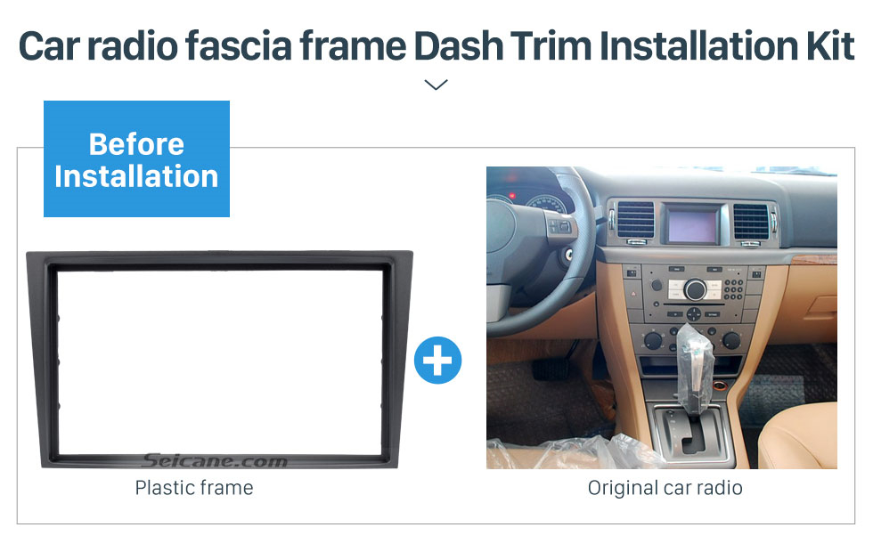 Tamkyo 2 Din Car Radio Fascia Trim Kit for 2006 Vectra Astra Zafira Stereo Dash CD Frame Panel Audio Cover Fitting Kit