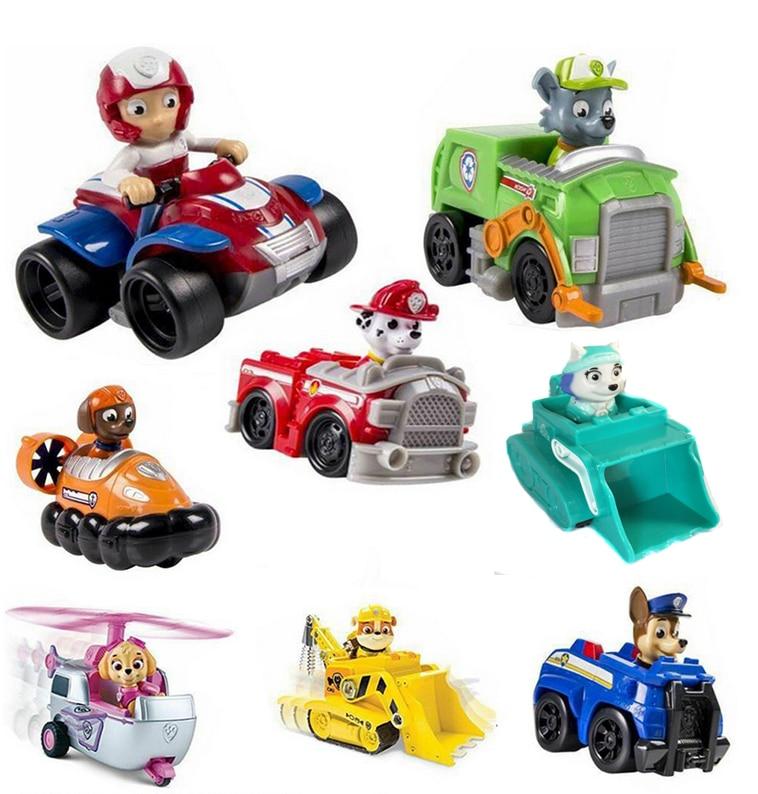 8pcs set Patrol Canine toys Patrol Puppy Car Sets Toys Action Figures Model Patrulha patrulla canina