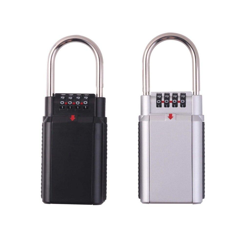 OSPON Outdoor Key Safe Box Keys Storage Password Lock Box Padlock Keys Hook Security Organizer Boxes For Outdoors Home Office
