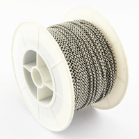 25m/roll 2x0.8mm Unwelded 304 Stainless Steel Cross Rolo Cable Chains with Spool for Jewelry Making DIY Bracelet Necklace