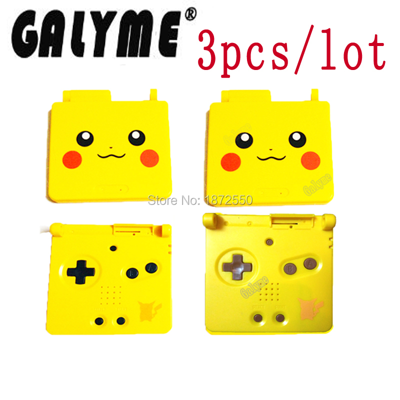 3pcs/lot Repair Parts Housing Case For GameBoyAdvanceSP GBO DMG Black/Red Buttons Cover Game Console Boy Handheld With Lens