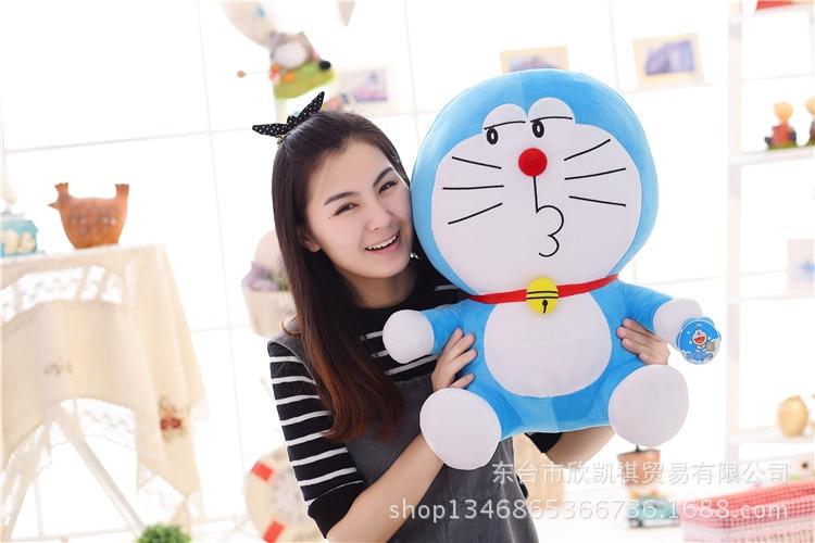 anime cartoon Doraemon cat plush toy funny expression Doraemon large 40cm soft pillow , birthday gift w5390