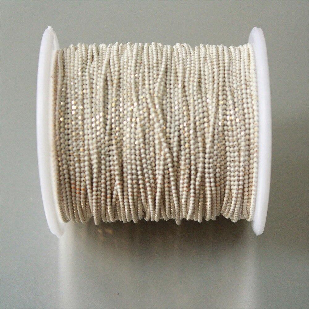 5 метров чисто белый шар Мерцающая цепь на латуни, 1,2 мм браслет ожерелье шар цепь, цепочка с кисточками, анти-Tarnihs, высокое качество Y44