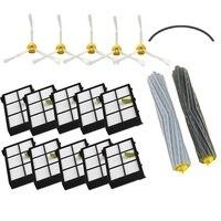 1Set Roller Brush Side Brush Hepa Filter Bumper Strip For IRobot Roomba 800 900series 870 880