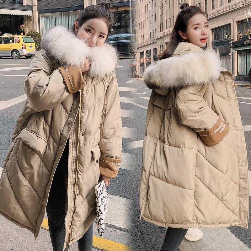 Mujeres Oversize Con Cuello Coreana Invierno Chaqueta Abrigo